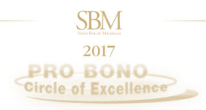 State Bar of Michigan Pro Bono Circle of Excellence